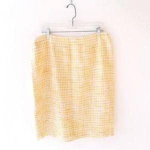 Talbots career tweed pencil skirt
